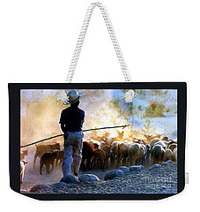 Herder Going Home In Mexico Weekender Tote Bag by Phyllis Kaltenbach
