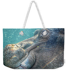 Hippopotamus Smiling Underwater  Weekender Tote Bag