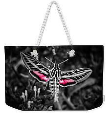 Hummingbird Moth Bw Print Weekender Tote Bag