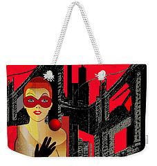 014 - In  Red   City Darkness Weekender Tote Bag