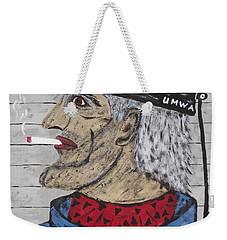 Weekender Tote Bag featuring the painting  Coal Man Joe by Jeffrey Koss