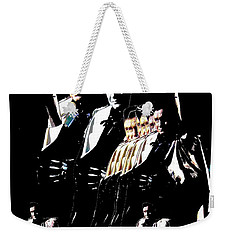 Weekender Tote Bag featuring the photograph  Johnny Cash Multiplied  by David Lee Guss