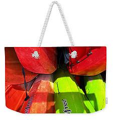 Kayaks Weekender Tote Bag by Michelle Meenawong