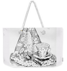 Lace With Cup Weekender Tote Bag