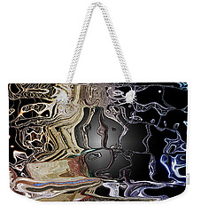 Weekender Tote Bag featuring the photograph  Liquid Metal by Pennie  McCracken