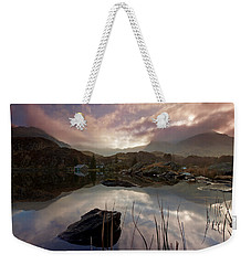 Llyn Ogwen Sunset Weekender Tote Bag by Beverly Cash