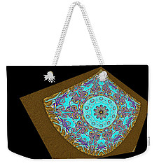 Magnitude. Black Blue And Gold Design Weekender Tote Bag by Oksana Semenchenko