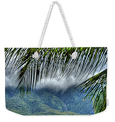 Weekender Tote Bag featuring the photograph  Maui Foot Hills by Arthur Fix
