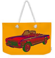 Mercedes Benz 280 Sl Convertible Pop Art Weekender Tote Bag