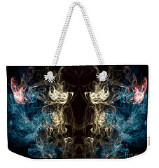 Minotaur Smoke Abstract Weekender Tote Bag by Edward Fielding