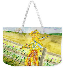 Napping Scarecrow Weekender Tote Bag