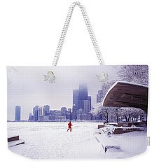 Weekender Tote Bag featuring the photograph  North Ave Beach Chess Palv Chicago Lake Front  by Tom Jelen