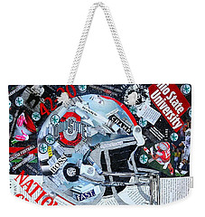 Ohio State University National Football Champs Weekender Tote Bag by Colleen Taylor