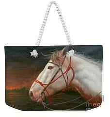 Original Animal Oil Painting Art-horse#16-2-5-21 Weekender Tote Bag
