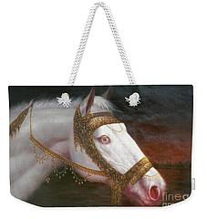 Original Animal Oil Painting Art-horse-03 Weekender Tote Bag
