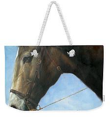 Original Animal Oil Painting Art-horse-04 Weekender Tote Bag
