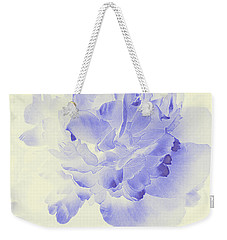 Paeony - Shadow In Blue Weekender Tote Bag