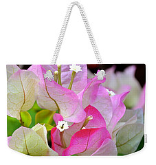 Pink  Bougainvillea ...with A Friend Weekender Tote Bag by Lehua Pekelo-Stearns
