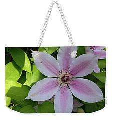 Pink Clematis  Weekender Tote Bag