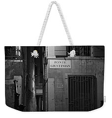 Weekender Tote Bag featuring the photograph  Ponte Giustinian - Venice by Lisa Parrish