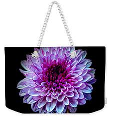 Purple On Black Weekender Tote Bag by Michelle Meenawong