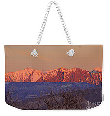 Radiant Ragged Mountain Evening Co II Weekender Tote Bag