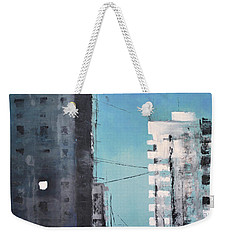 Weekender Tote Bag featuring the painting  Rotterdam by Maja Sokolowska