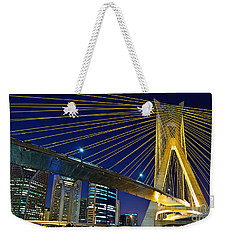 Sao Paulo's Iconic Cable-stayed Bridge  Weekender Tote Bag