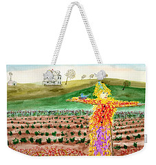 Scarecrow With Nesting Companion Weekender Tote Bag