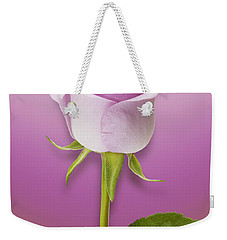 Single Lilac Rose Weekender Tote Bag