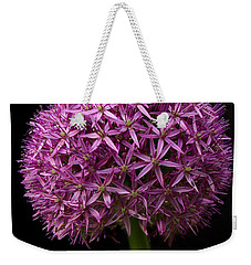 Single Purple Allium Weekender Tote Bag