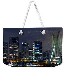 Supermoon In Sao Paulo - Brazil Skyline Weekender Tote Bag