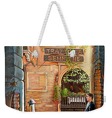 Thinking Of You Trattoria Sempione San Marco 578 Venezia Weekender Tote Bag