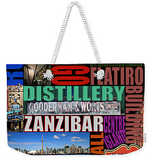 Toronto Typography Weekender Tote Bag by Andrew Fare