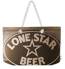 Vintage Sign Lone Star Beer Weekender Tote Bag