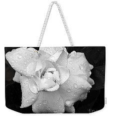 White Drops Weekender Tote Bag by Michelle Meenawong