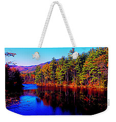 White Mountians National Park Red Eagle Pond New Hampshire Weekender Tote Bag by Tom Jelen