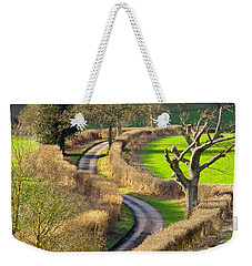 Winding Country Lane Weekender Tote Bag