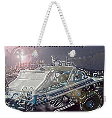 Weekender Tote Bag featuring the digital art  Yacht Art by Rogerio Mariani