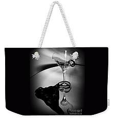Martini Glass Charm Weekender Tote Bag by Linda Bianic