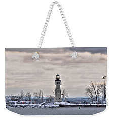 01 Winter Light House Weekender Tote Bag