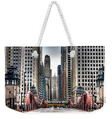0295b Lasalle Street Bridge Weekender Tote Bag