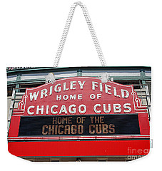0334 Wrigley Field Weekender Tote Bag by Steve Sturgill
