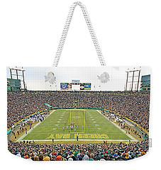 0349 Lambeau Field Panoramic Weekender Tote Bag by Steve Sturgill
