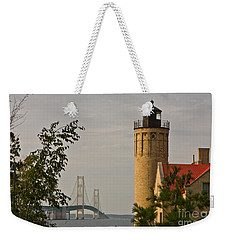 0558 Old Mackinac Point Lighthouse Weekender Tote Bag