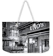 0748 Uno's Pizzaria Weekender Tote Bag