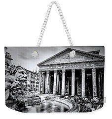 0786 The Pantheon Black And White Weekender Tote Bag