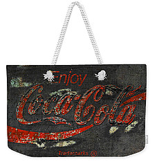 Coca Cola Sign Grungy  Weekender Tote Bag by John Stephens