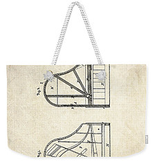 1878 Steinway Grand Piano Forte Patent Art S. 1 Weekender Tote Bag by Gary Bodnar