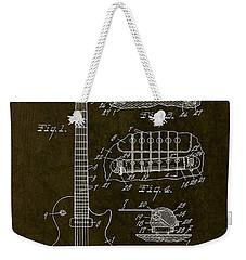 1955 Gibson Les Paul Patent Drawing Weekender Tote Bag by Gary Bodnar